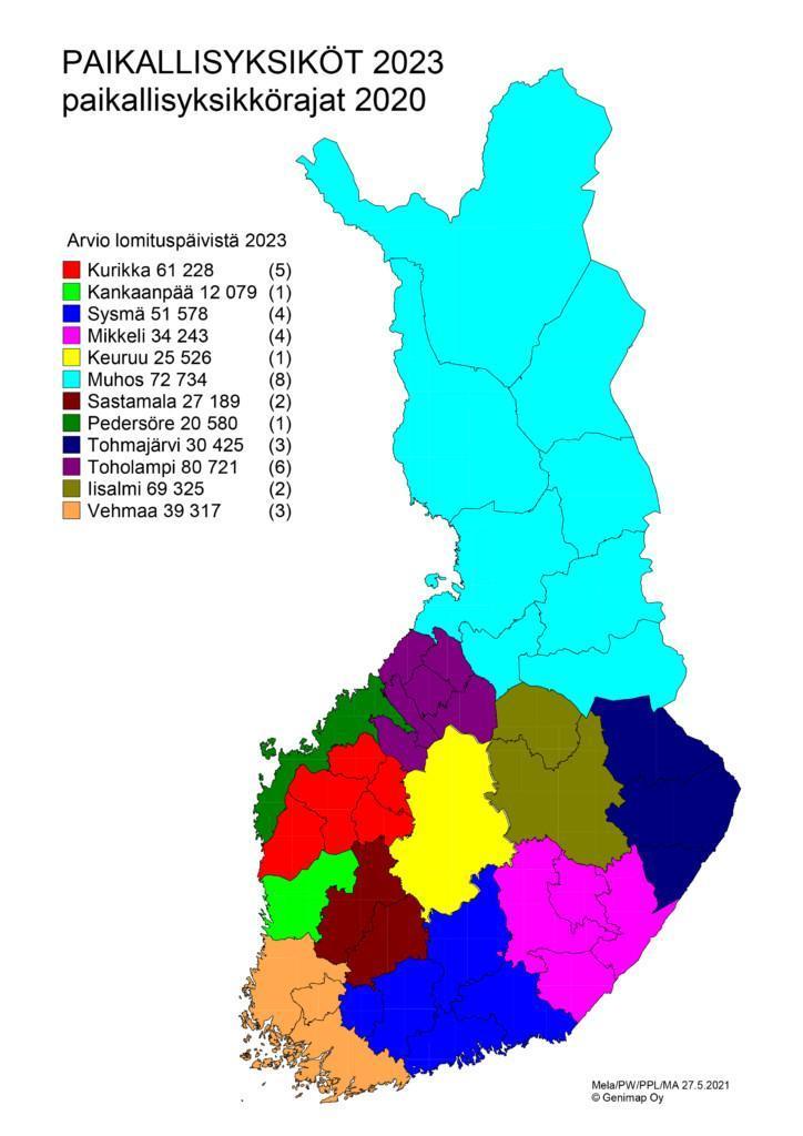 Lomituksen paikallisyksiköt 2023